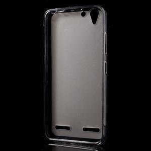 Matný gelový obal na mobil Lenovo Vibe K5 / K5 Plus - šedý - 2