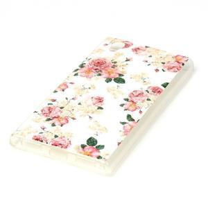 Softy gelový obal na mobil Lenovo P70 - květiny - 2