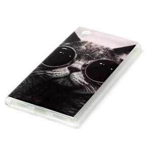 Softy gelový obal na mobil Lenovo P70 - cool kočka - 2