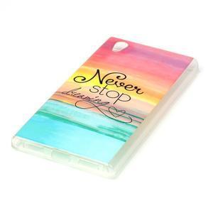 Softy gelový obal na mobil Lenovo P70 - nepřestávej snít - 2