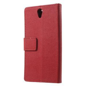 Peněženkové pouzdro na mobil Lenovo Vibe S1 - červené - 2