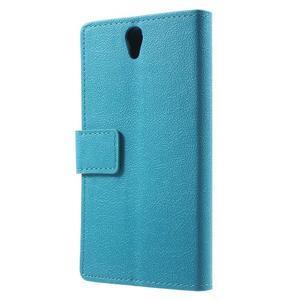 Peněženkové pouzdro na mobil Lenovo Vibe S1 - modré - 2