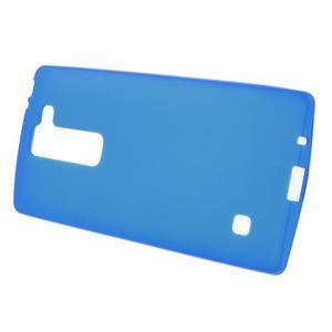 Matný gelový kryt na LG Spirit - modrý - 2