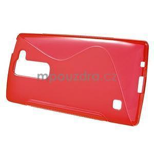 S-line gelový obal na LG Spirit 4G LTE - červený - 2