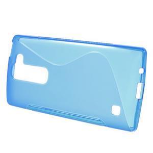 S-line gelový obal na LG Spirit 4G LTE - modrý - 2