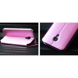 Vintage PU kožené pouzdro na mobil Meizu M3 note - růžové - 2
