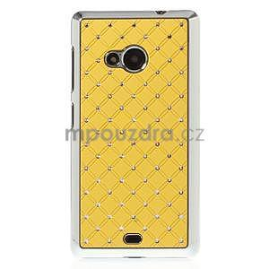 Drahokamový kryt na Microsoft Lumia 535 - žlutý - 2