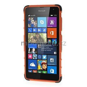 Vysoce odolný obal pro Microsoft Lumia 535 - oranžový - 2