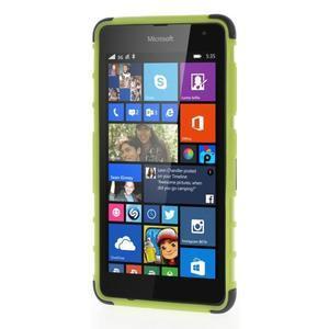 Vysoce odolný obal pro Microsoft Lumia 535 - zelený - 2