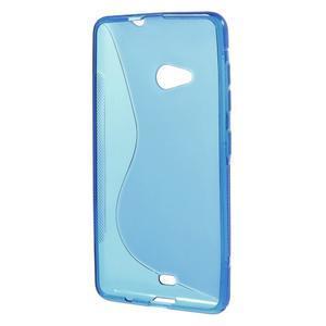 Gelový obal na Microsoft Lumia 535 - modrý - 2
