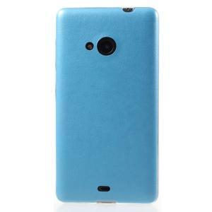 Ultra tenký kryt s jemnými koženkovými zády Microsoft Lumia 535 - modrý - 2