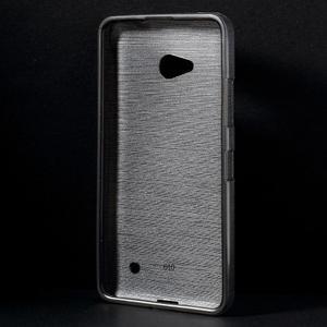 Broušený gelový obal na Microsoft Lumia 640 LTE - šedý - 2