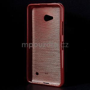 Broušený gelový obal na Microsoft Lumia 640 LTE - červený - 2