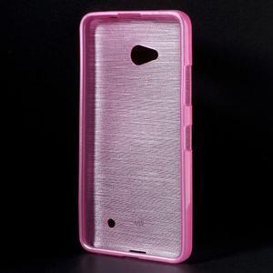 Broušený gelový obal na Microsoft Lumia 640 LTE - rose - 2