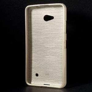 Broušený gelový obal na Microsoft Lumia 640 LTE - champagne - 2