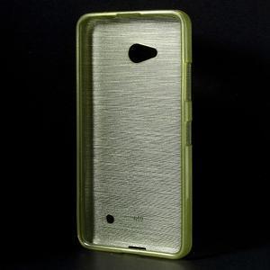 Broušený gelový obal na Microsoft Lumia 640 LTE - zelený - 2