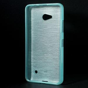 Broušený gelový obal na Microsoft Lumia 640 LTE - modrý - 2