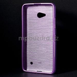 Broušený gelový obal na Microsoft Lumia 640 LTE - fialový - 2