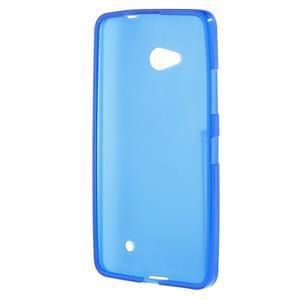 Matný gelový kryt na Microsoft Lumia 640 LTE - modrý - 2