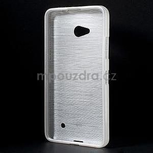 Broušený gelový obal na Microsoft Lumia 640 LTE - bílý - 2