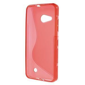 S-line gelový obal na mobil Microsoft Lumia 550 - červený - 2