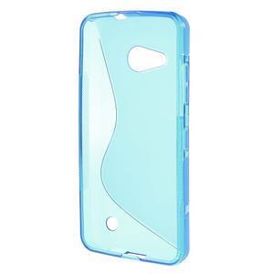 S-line gélový obal pre mobil Microsoft Lumia 550 - modrý - 2