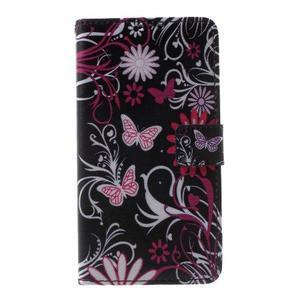 Cross peněženkové pouzdro na Huawei Honor 7 - kouzelní motýlci - 2