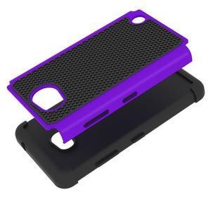 Odolný hybridní kryt na mobil Microsoft Lumia 640 - fialový - 2