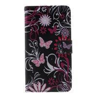 Cross peněženkové pouzdro na Huawei Honor 7 - kouzelní motýlci - 2/6
