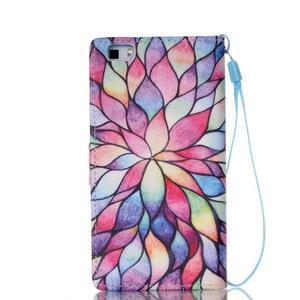 Peněženkové pouzdro Huawei Ascend P8 Lite - květinové lístky - 2