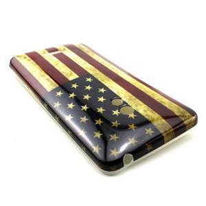 Soft gelový obal na Asus Zenfone 5 - US vlajka - 2