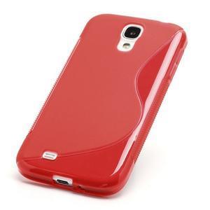 S-line gelový obal na Samsung Galaxy S4 - červený - 2