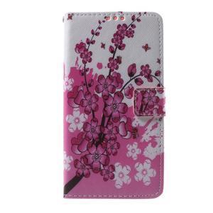 Cross peněženkové pouzdro na Huawei Honor 7 - kvetoucí větvička - 2