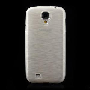 Gelový kryt s broušeným vzorem na Samsung Galaxy S4 - bílý - 2