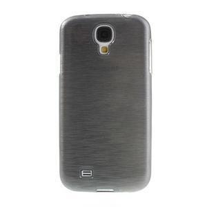 Gelový kryt s broušeným vzorem na Samsung Galaxy S4 - šedý - 2