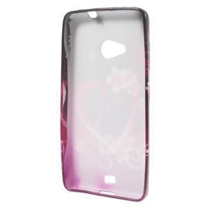 Soft gelový obal na Microsoft Lumia 535 - srdce - 2