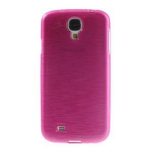 Gelový kryt s broušeným vzorem na Samsung Galaxy S4 - rose - 2