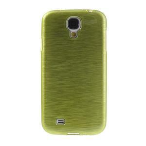 Gelový kryt s broušeným vzorem na Samsung Galaxy S4 - žlutozelený - 2