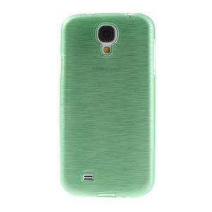 Gelový kryt s broušeným vzorem na Samsung Galaxy S4 - azurový - 2