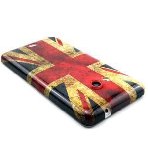 Gelový kryt na Microsoft Lumia 535 - UK vlajka - 2