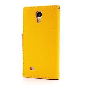 Fancy peněženkové pouzdro na Samsung Galaxy S4 - žluté - 2