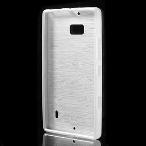 Gelový obal s broušeným vzorem Nokia Lumia 930 - bílý - 2