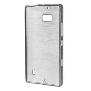 Gelový obal s broušeným vzorem Nokia Lumia 930 - šedý - 2
