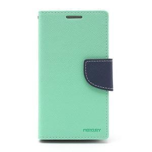 Fancy peněženkové pouzdro na Samsung Galaxy S4 -  azurové - 2