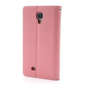 Fancy peněženkové pouzdro na Samsung Galaxy S4 -  růžové - 2