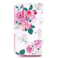 Peněženkové pouzdro na Huawei Ascend Y300 - květiny - 2/5