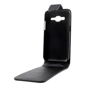 Černé flipové pouzdro na Samsung Galaxy Core Prime - 2