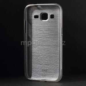 Broušený gelový kryt na Samsung Galaxy Core Prime - šedý - 2