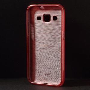 Broušený gelový kryt na Samsung Galaxy Core Prime - červený - 2
