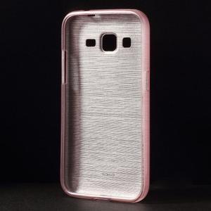 Broušený gelový kryt na Samsung Galaxy Core Prime - růžový - 2